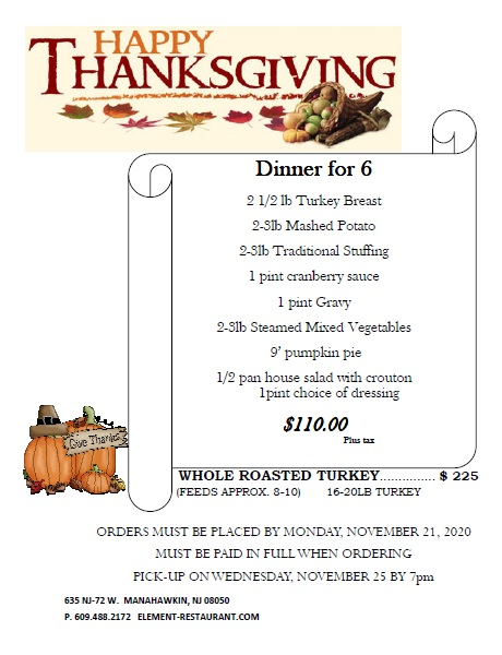 Thanksgiving2020Menu